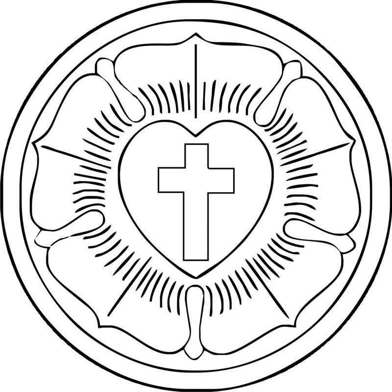 Evangelischer Kirchenbote Sonntagsblatt Fur Die Pfalz Malvorlage Lutherrose